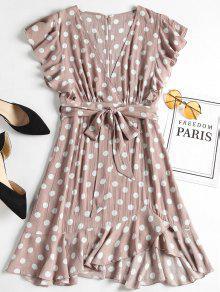 فستان مصغر البولكا نقطة  - روزي براون L
