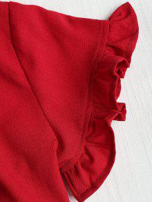 Ribete Con Rojo S De Volantes Top W6Yazqfa