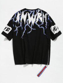 L Hombros Negro 237;dos Ca Camiseta Estampada Con vw8wPq