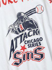 De Ragl Mangas M Sportsman 225;n Blanco Pattern Camiseta zAHnTH