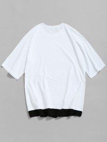 Grommet Blanco Con Camiseta Redondo 243;n De Xl Cuello Algod rwYY0fqd