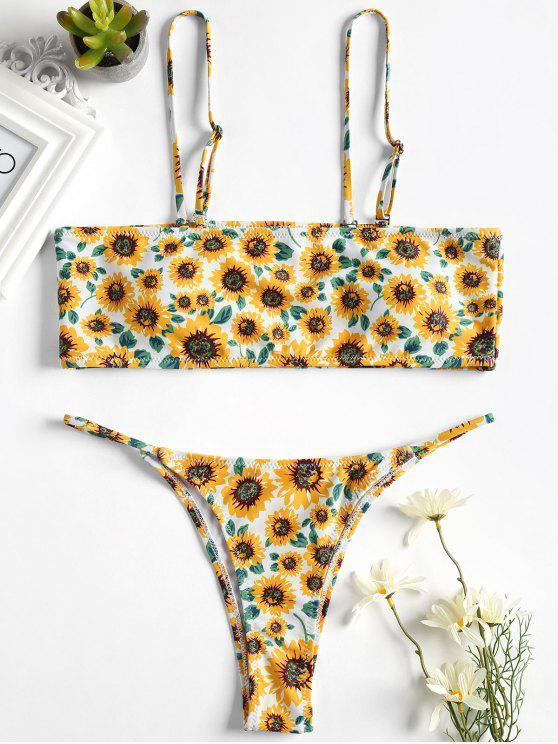 Conjunto Bikini Bandeau Girasol - Blanco L