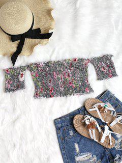 Floral Smocked Off Shoulder Top - Multi-a M