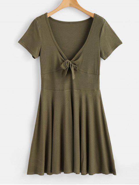 Riemen Vordere Niedriges Geschnitten Kleid - Armeegrün S Mobile