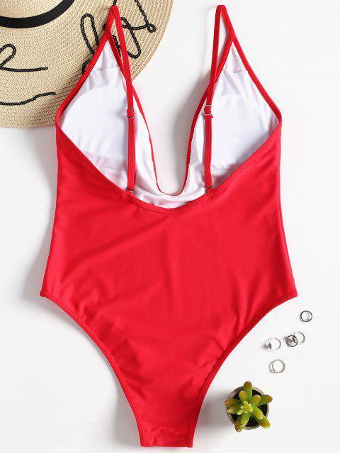 Traje de baño acolchado de una pieza - Amo Rojo M Mobile