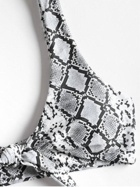 buy Snakeskin High Cut Bikini - MULTI S Mobile