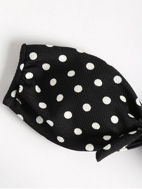 buy Polka Dot Bandeau Bikini Set - BLACK L Mobile