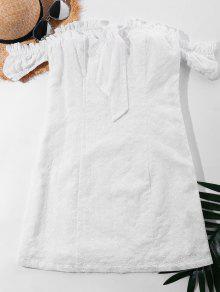 فستان بلا اكتاف بونوت - أبيض L