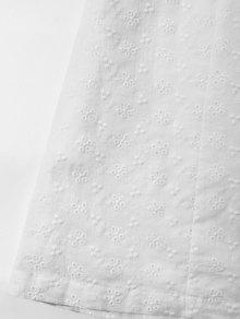 Descubiertos Vestido Xl Blanco Hombros Con pZwRZP