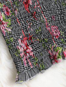 De Gallo Deshilachado Top Multicolor Pata Floral Bandeau a De S vqYqwxtTrF