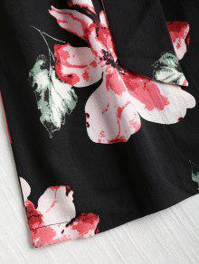 2fc133fe0d21 26% OFF  2019 Floral Cutout Tie Front Breezy Romper In BLACK