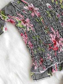 243;n Y Floral Parte Gallo Pantal De Pata Corto Superior S Multicolor Estampado De Con xR1U1nZw