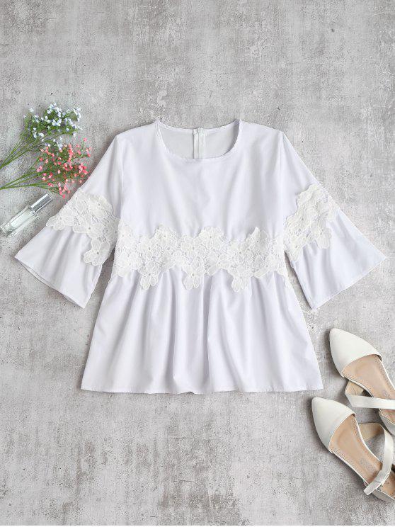 Blusa de Crochê Patch Top - Branco L