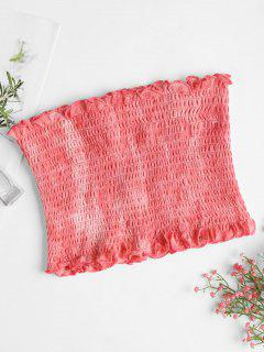 Tie Dye Smocked Tube Top - Bean Red M