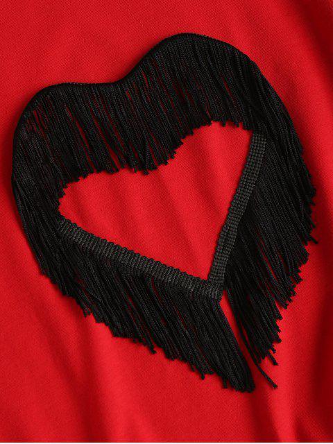 T-shirt à Cœur Frangé - Rouge Amour L Mobile
