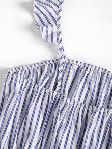 Con M Cuadrada Azul Camiseta Mangas Sin Marino Rayas qxwtgFBRp