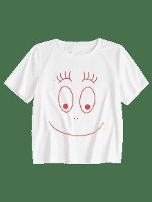 Redondo Camiseta S Con Blanco Cuello qOZw8rqUE