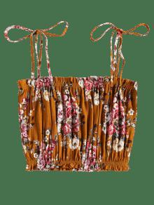 Top Floral Cami Amarillo Autob De Blouson Tank BtwxdPz