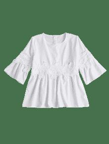 Parte Crochet Xl Delantal Superior Blanco De Del wBxR4rB
