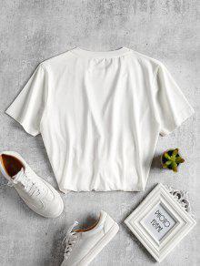 Graphic Jersey De Blanco L Camiseta Kissing Estampada WRO77q
