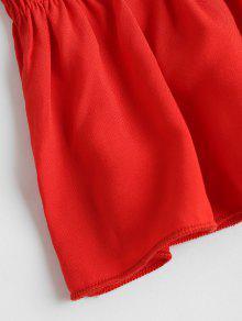 Amo Rojo Con Top Tubo Volantes Volantes M Con xU8UX7wqR