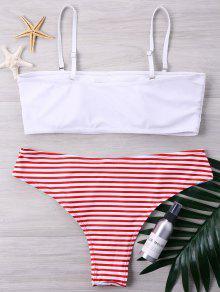 Bikini Alto Y Blanco Conjunto Xl Corte De Grande Rayas De Talla De 5xCYBwq