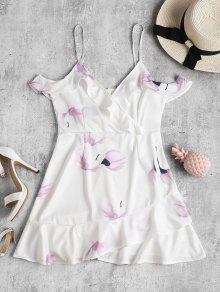فستان مصغر باردة الكتف ضيق - أبيض M
