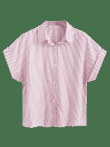 Rayas S Rosa Con Camisa Botones Claro De ARwYcFq5