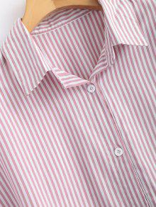 De Claro Rosa Con S Camisa Botones Rayas znwTq8dffv