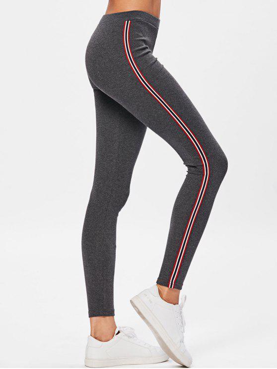 Calças de treino de stripe lateral - Cinza Escuro Um Tamanho