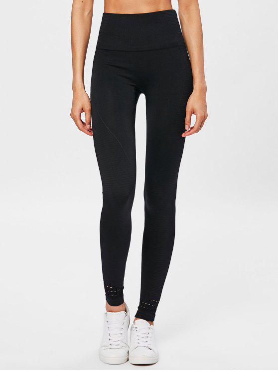 Leggings A Vita Alta - Nero L