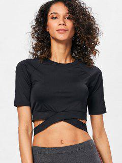 Run Yoga Crop Top - Black L