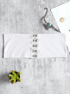 Front Closure Bandeau Tube Top - White