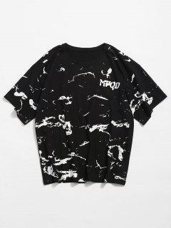 Abstraktes Muster Rundhals T-Shirt - Schwarz 2xl