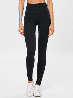 Performance Moto High Waisted Leggings - Black M