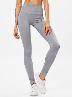 Performance Moto High Waisted Leggings - Light Gray L