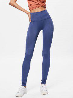 Performance Moto High Waisted Leggings - Steel Blue M
