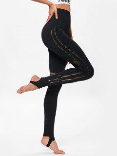 Leggings Deportivos De Yoga De Talle Alto - Negro M