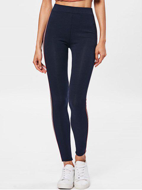 Pantalones de entrenamiento de rayas laterales - Azul Purpúreo Talla única Mobile