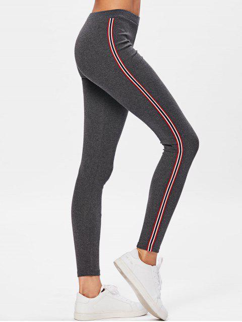 Pantalones de entrenamiento de rayas laterales - Gris Oscuro Talla única Mobile