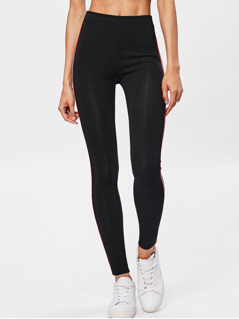 hot Side Stripe Workout Pants - BLACK ONE SIZE Mobile