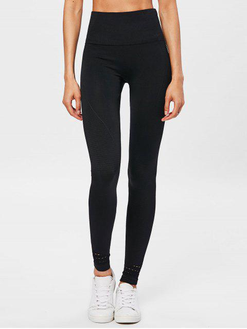 womens Performance Moto High Waisted Leggings - BLACK M Mobile