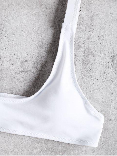 best Caged Bralette Bikini Set - WHITE L Mobile
