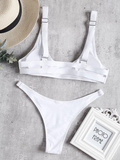 Ensemble Bikini Cage - Blanc M Mobile