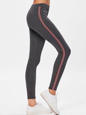 Pantalones de entrenamiento de rayas laterales