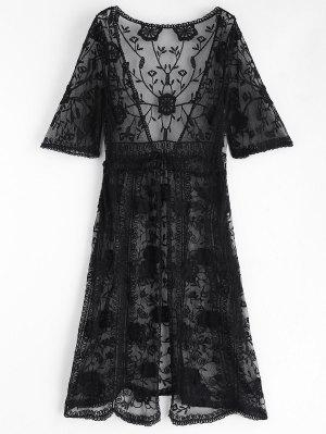 Riemchen Vorder Besticktes Kimono
