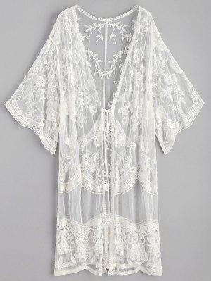 Kimono largo bordado