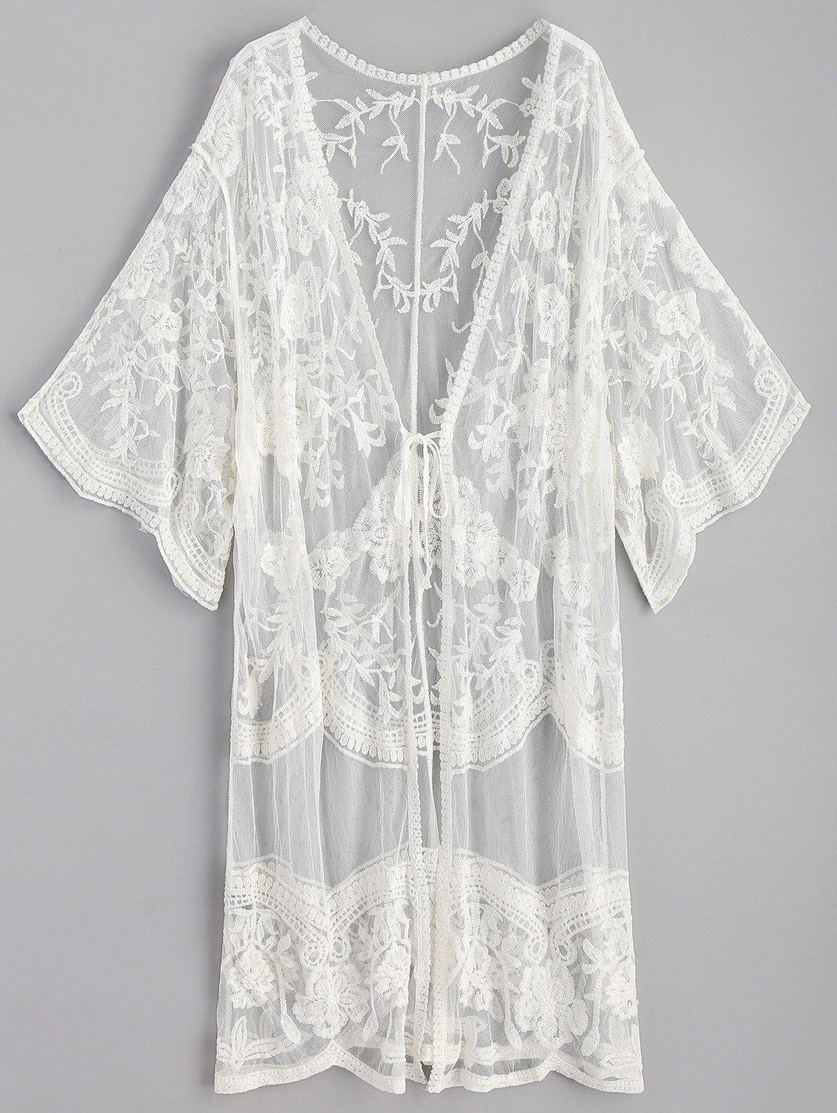 Embroidered Long Kimon