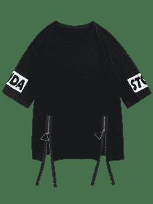 Negro Animal Front T M shirt Pattern Zip pZrXTp