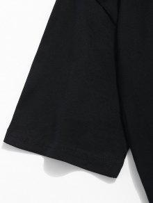 M Manga Corta Dinosaurios Con Negro De Camiseta De Estampado APqSSw